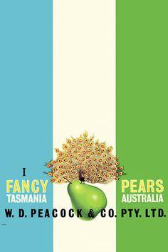 Vintage Australian Fruit Label Advertising Posters Prints