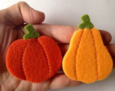 Felt Pumpkin Pin by Beedeebabee on Etsy