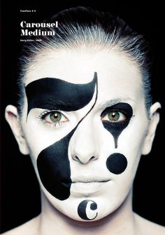 """""""FontFace"""" a brilliant way to execute the literal word typeface. Also would be an amazing project to re-create for aspiring graphic designer photographers! White Makeup, Font Face, Design Graphique, Illustrations, Type Design, Cool Fonts, Lettering Design, Face Art, Fall Crafts"""