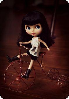 Blythe ~ Bicycle by Voodoolady ♎