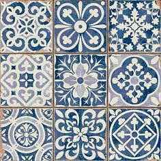 Miniature Printables - Blue Tiles.