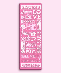 Personalized Planet Sisters Personalized Canvas | zulily