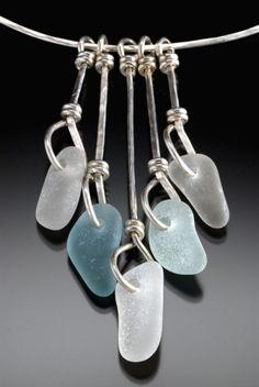 beach glass necklace by beach glass bingo by laurel