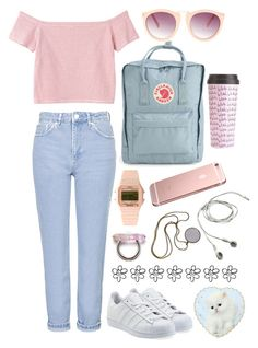 """""""colors"""" by fuckkkniall ❤ liked on Polyvore featuring Monki, Timex 80, ASOS, Topshop, adidas Originals, Fjällräven and ban.do"""