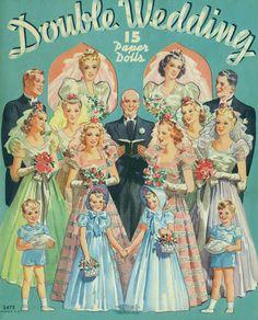 """Double Wedding"" paper dolls - 1939 Merrill #3472 - Bobe Green - Picasa Web Albums"