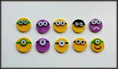 Paper quilling minion magnets