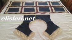 Low and High Smocking Frock (Rose Design) - Crochet İnfant Pull Crochet, Crochet Round, Easy Crochet, Crochet Mittens, Crochet Poncho, Crochet Slippers, Pullover Design, Sweater Design, Braidless Crochet