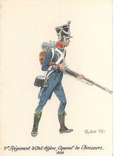 Caporale dei cacciatori del 7 rgt. di fanteria leggera