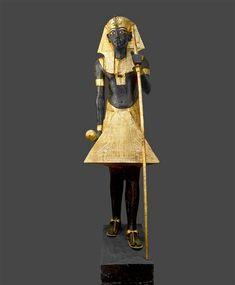The Royal Ka, guardian spirit of Tutankhamun. Statue from the tomb of Tutankhamun, Valley of the Kings, Thebes,1342 BCE, New Kingdom - Egyptian Museum, Cairo