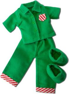 Elfit - Peppermint Pajamas (PJs and slippers)