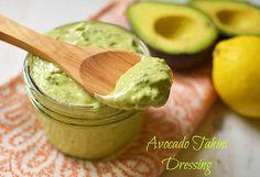 Avocado Tahini Dressing / LittleFerraroKitchen.com