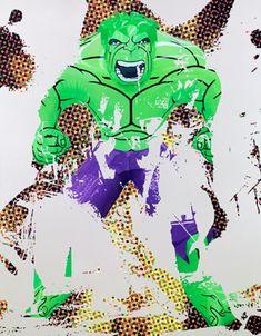 Jeff Koons - Artwork: Hulk Elvis I: oil on canvas.