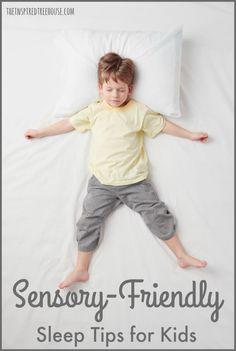 The Inspired Treehouse - Sensory friendly sleep tips for kids who have trouble sleeping Sensory Diet, Sensory Issues, Sensory Activities, Sensory Tools, Autism Sensory, Sensory Play, Family Activities, Sensory Disorder, Sensory Processing Disorder