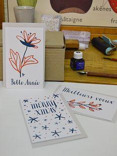 Carte de vœux Letterpress : Joyeux Noël