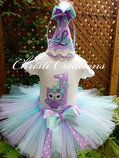 OwlBaby Girl 1st Birthday Shirt and Tutu Set by ChristiCreations, $65.95