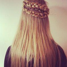 blonde, braid, hair, hairstyle