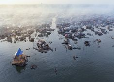 Floating School by Kunle Adeymi in Lagos, Nigeria. Photograph by Iwan Baan. See our exclusive interview with Iwan Baan about his 52 Weeks, 52 Cities exhibition