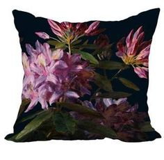 Simply Daisy 22 Inch Floral Dream Black Floral Print Decorative Polyester Throw Pillow with Linen Texture Floral Throws, Floral Throw Pillows, Throw Pillow Sets, Outdoor Throw Pillows, Velvet Stool, Gold Bed, Cotton Pillow, Dark Florals, Floral Prints