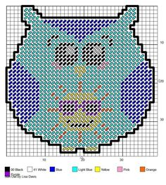 SUN OWL by LISA DAVIS made pattern