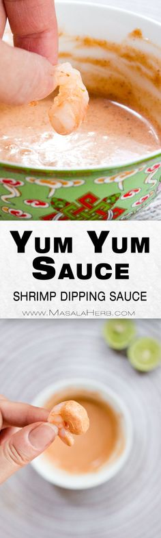 Yum Yum Sauce Recipe - How to make Yum Yum Shrimp Sauce - hibachi restaurant style pink sauce aka yum yum sauce. You can use it as a dipping sauce or as a sauce over white meat and seafood wit veggies. I like to sprinkle some into my wrap! www.MasalaHerb.com #dip #sauce #pink #masalaherb