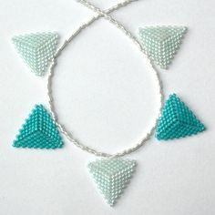 Pale Blues Beaded Bunting Necklace £15.00