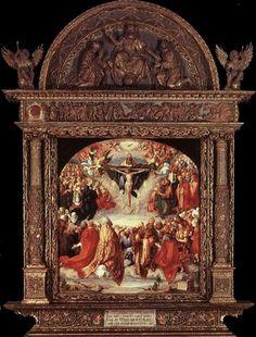 The Adoration of the Holy Trinity (Landauer Altar) - Albrecht Durer