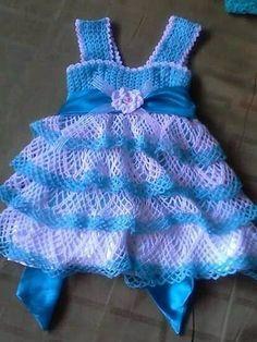 crochet baby dresses 15