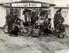 The first black biker's club around 1960s in Oakland California, the East Bay Dragons.