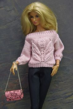 by GEMINI ~ knitted fashion dress sweater outfit for FR Poppy Parker Nu Face | eBay
