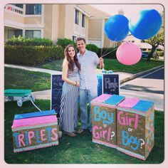 Amazing surprise at gender reveal party!