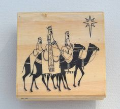 Three Kings Christmas Rubber Stamp by MrozNaps on Etsy, $3.00