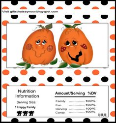 cute fall/halloween/thanksgiving candy bar wrap Halloween Labels, Halloween Party Decor, Halloween Candy, Fall Halloween, Happy Halloween, Candy Bar Sayings, Candy Bar Gifts, Candy Crafts, Paper Crafts