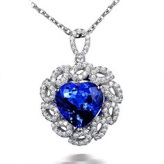 Beautiful 5.15ct Natural Blue Tanzanite in 18K Gold Pendant by CHARMES Jewellery