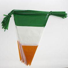 Amazon.com : Irish Flag Pennant Banner : Childrens Party Banners : Patio, Lawn & Garden