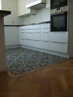 Afbeeldingsresultaat voor combinatie vloer hout en tegels