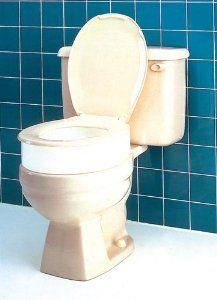 `Raised Toilet Seat Elevator - Standard Carex by Raised-Toilet-Seat. $33.55. Raised Toilet Seat Elevator - Standard Carex. Bath Care,Raised Toilet Seat. Standard  17.38  x 13.75  x 3.5  * Fits standard toilets and elongated toilets * Toilet seat sits on top of raised toilet seat elevator * Weight Capacity: 300 Lbs.