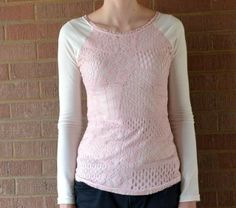 Feathers Flights {a creative, sewing blog}: Lace Overlay Tee: An Anthropologie Knock-Off