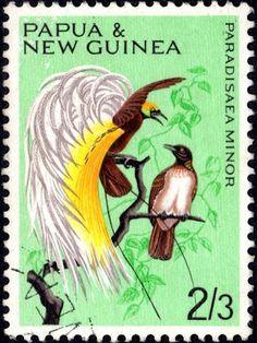 Papua y sello de Nueva Guinea.
