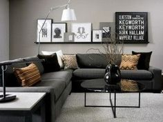 PICTURE LEDGE KEEPS FRAMES UNCLUTTERED Modern Living Room Ideas 2012 300x226 Modern Living Room Ideas