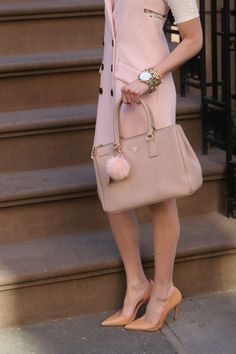 MariaOnPoint | Double Trouble @zaraofficial dress + pointy-toe heels, @marissawebb tessa vest dress, @prada bag, @coach watch, @stellaanddot bracelet