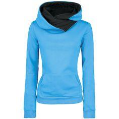 Very warm hooded sweater with shawl collar and kangaroo pocket.