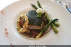 Une recette de lieu jaune en croûte d'herbes, un poisson délicieux par Cyrille Zen, ancien candidat Top Chef et étoilé auvergnat