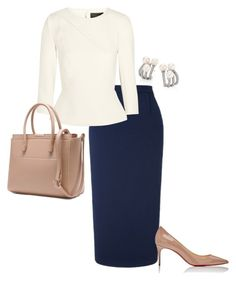 """""""Untitled #3635"""" by injie-anis ❤ liked on Polyvore featuring Hueb, Roland Mouret and Christian Louboutin"""