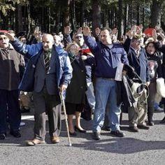 Fascist supporters, Valle de los Caídos, outside Madrid