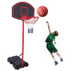 Portable Removable Basketball Hoop Indoor Outdoor Basketball Stand for Kids Height Adjustable Sports Basketball System Goal Net with Wheels for Children and Adult : Sports & Outdoors Basketball Systems, Sports Basketball, Portable Basketball Hoop, Children, Kids, Indoor Outdoor, Wheels, Outdoors, Outdoor