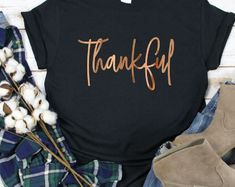 Etsy :: Your place to buy and sell all things handmade Thanksgiving Shirts For Women, Thankful And Blessed, Crew Neck Shirt, Fall Shirts, Shopping Websites, Soft Fabrics, T Shirts For Women, My Style, Sweatshirts