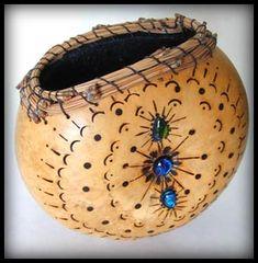 """Gourd Art """"Wall Basket"""