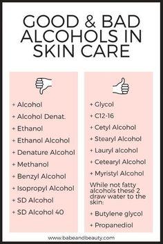 alcohol in skin care #haircarehacks