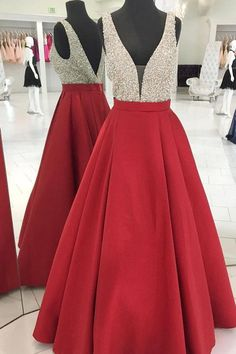 Sparkly Sequins Red Long Prom Dress Evening Dress
