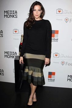 The Lunchbox Fund Fall fete, New York - October 9 2013  Liv Tyler wore a Proenza Schouler top with a skirt by Givenchy.